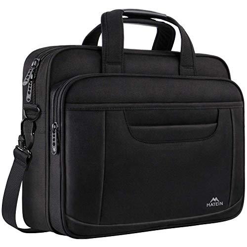Laptop Bag 15.6 Inch, Laptop Briefcase Business Office Bag for Men Women, Water Resistant Durable Shoulder Messenger Bag for Notebook Computer MacBook Acer HP Dell, Black