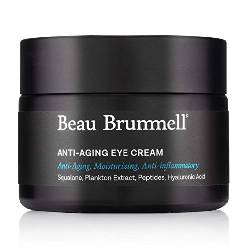 Anti-aging Eye Cream For Men | Moisturizing Lotion Works on Wrinkles, Fine Lines, Dark Circles, Puffiness, Bags | Powered With Hyaluronic Acid, Squalane, Caffeine | Fragrance-Free 1.7 OZ | Made in USA
