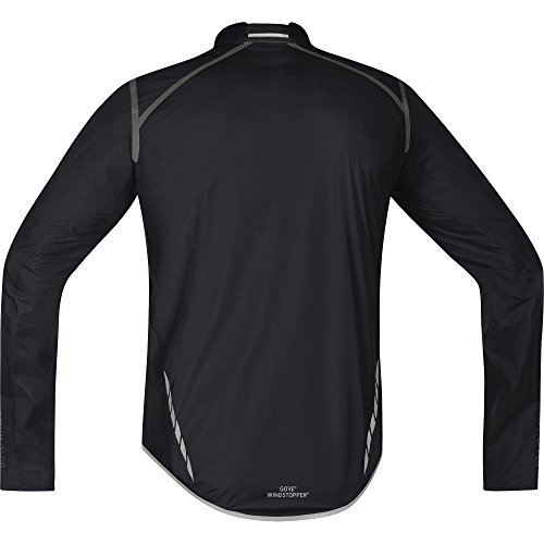 GORE BIKE WEAR, Men´s, Road cyclist jacket, Ultra-lightweight and compact, GORE WINDSTOPPER, OXYGEN WS AS Light, Size M, Black, JWAOXY