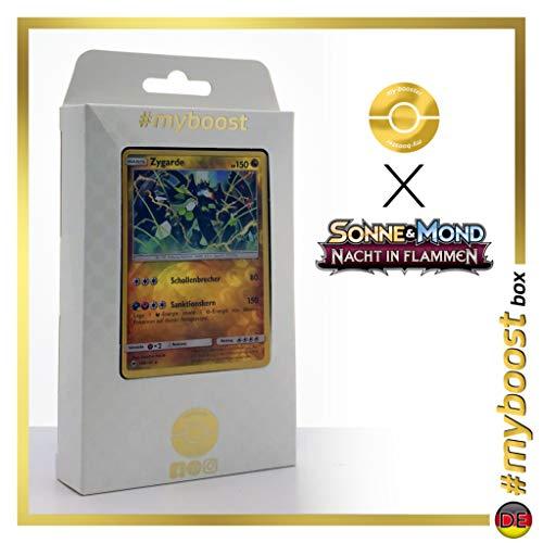 Zygarde 100/147 Holo Reverse - #myboost X Sonne & Mond 3 Nacht in Flammen - Coffret de 10 Cartes Pokémon Allemandes