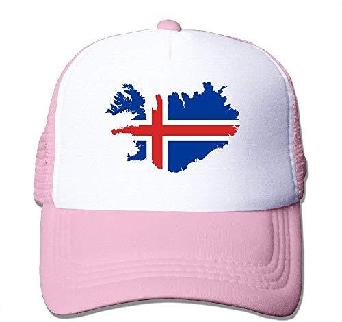 63251vdgxdg Iceland-Flag-Map nylon baseballcap voor volwassenen