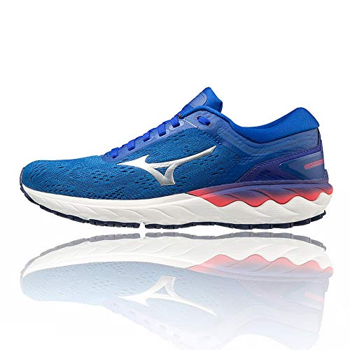 Mizuno Wave SKYRISE (W), Zapatillas de Running Mujer, Reflex Blue C/Nimbus Cloud/DivaPink, 40.5 EU
