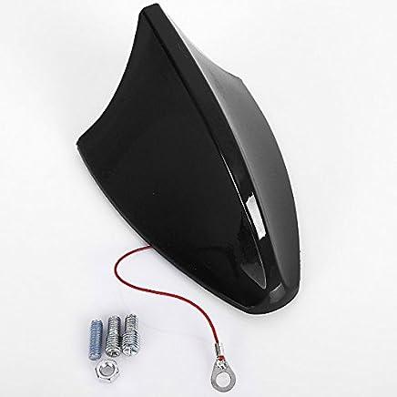 WOLTU 7022 Antenna Auto Universale a Pinna di Squalo Shark Adattatore Veicoli Radio AM/FM Nero Lucido
