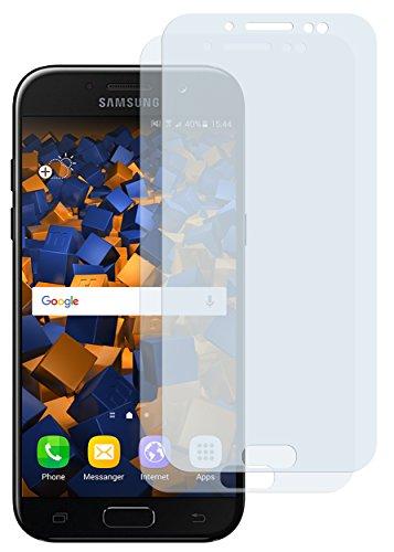 mumbi Schutzfolie kompatibel mit Samsung Galaxy J5 2017 Folie klar, Bildschirmschutzfolie (2X)