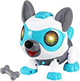 Adhtong STEM Toys for 3-12 Year Old Boys or Girls,DIY Robot Dog Toys with Music,Touch Control,Voice...