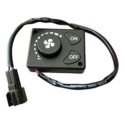 Blesiya 12 / 24V Control de Calentador de Estacionamiento LCD Perilla Controlador Interruptor Camión Universal