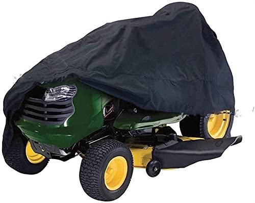 GAXQFEI Montar Césped Cortadora de Césped Tractor de Césped Accesorio con Bolsa de Alenamiento Universal Impermeable a Prueba de Polvo Al Aire Libre Portátil Negro,67'L × 24' W × 46'H