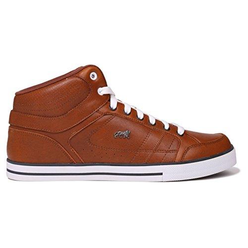 Lonsdale Canons Herren Turnschuhe Hi Top Sneaker Logo Freizeit Sport Schuhe Tan/Weiß 9 (43)