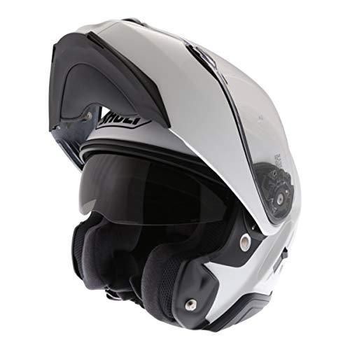 Shoei Casco Convertibile Flip-Up Moto Neotec 2 Plain Bianco (Xs, Bianco)