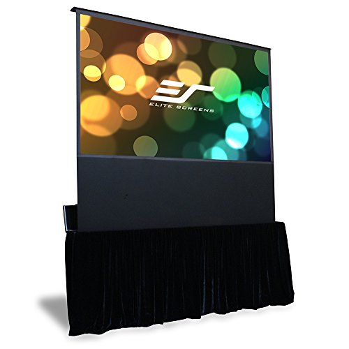 Elite Screens Kestrel Stage, 100-inch 16:9, Portable Stage Electric Floor-Rising Projection Projector Screen, FE100H-TC