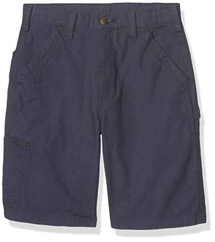 Carhartt Men's Canvas Work Short, Navy, 33