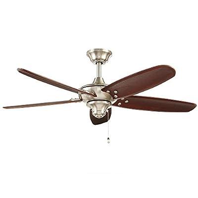 Home Decorators Collection Altura 48 in. Indoor/Outdoor Brushed Nickel Ceiling Fan