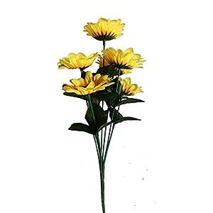 Chytaii Flores Artificiales Girasol de Simulación Planta Decoración de Florero Falso Flor Decoración de Plástico para Ramo de Boda HogarJardín Oficina Fiesta Boda Paquete de 1