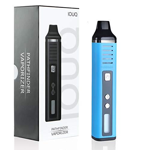IOUQ Dry Herb Vaporizer von Pathfinder V2, 2200-mAh-Batterie, erweiterte Temperatureinstellungen, innovativ und dennoch unterhaltsam Designed Herbal Vaporizer(Blau)