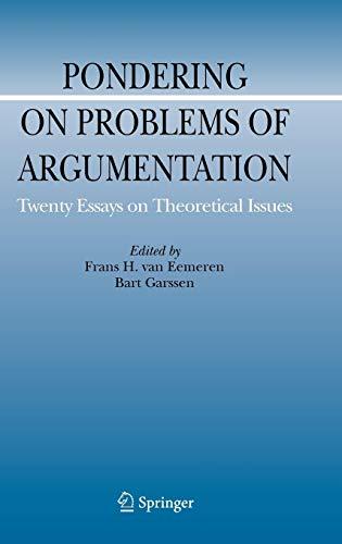 Download Pondering on Problems of Argumentation (Argumentation Library) 1402091648