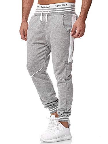 OneRedox Herren Jogging Hose Jogger Streetwear Sporthose Modell 1317 Grau S