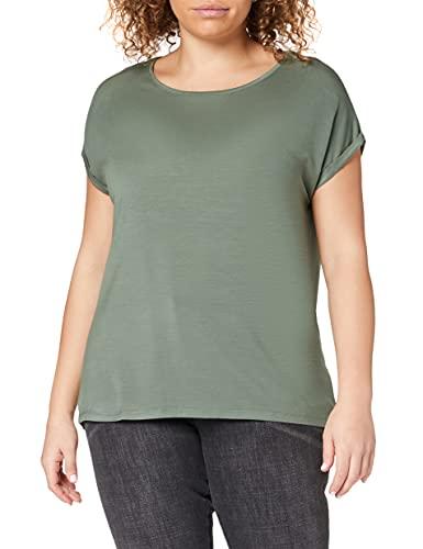 Vero Moda NOS Damen Vmava Plain Ss Top Ga Noos Bluse, Grün (Laurel Wreath), 36 (Herstellergröße: S)