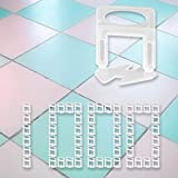 1/8' Tile Leveling System Clips 1000 pcs DIY Tiles Leveler Spacer, Tile Leveling System For Ceramic Tiles and Stone, Easy Installation (1000, 1/8')