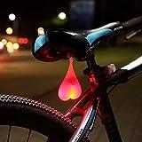 LDYGRattanArt Heart-Shaped Lumière Silicone Boules Vélo Vélo Feu Arrière LED Feux De Détresse Nuit Étanche Location Siège Lampe Oeuf,Feu Rouge