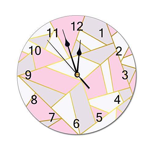 Fikujap decoración de la Pared del Reloj floreros de Cristal con Flores de Colores en estantes de Madera con Grandes de la Pared Decorativos en Colores Pastel Efectos gráfico del Reloj Decorativo,2