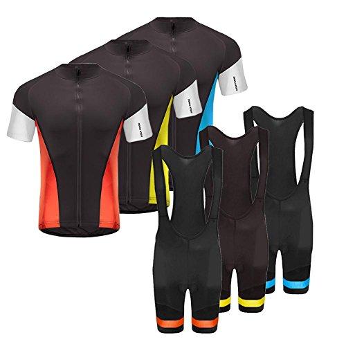 Uglyfrog Traje Ciclismo Hombre para Verano, Ciclismo Maillot y Culotte Ciclismo Culote Bicicleta con 20D Gel Pad para Deportes al Aire Libre Ciclo Bicicleta Suit
