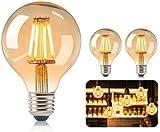 Vintage Edison Light Bulb,LED Vintage E27 ST64 4W 2200K Retro Edison Lamp Amber Warm Incandescent for Home/Restaurant/Bar/Cafe/Wedding-2 Piece [Energy Efficiency Class A +]