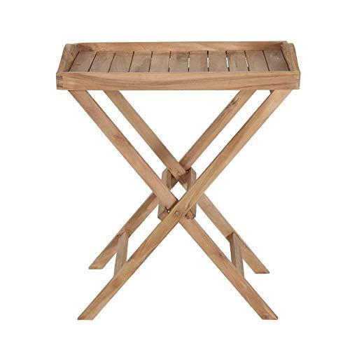 Homy Homy Tablett Holz massiv klappbar Teakholz unbehandelt Holzgestell - Togo