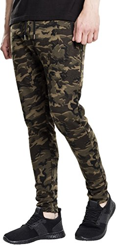 Urban Classics Interlock Camo Pants Pantalon, Multicolore (Camouflage en Bois 396), XL Homme