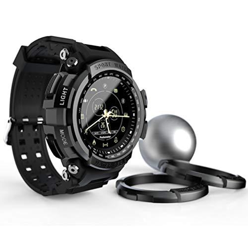 1,14-Zoll-Männer Sport-Uhr, Männer Smart Watch Kalorienverbrauch Pedometer Stoppuhr Wecker Bluetooth 4.0 wasserdichte Outdoor Sports Mountaineering Uhr,Schwarz