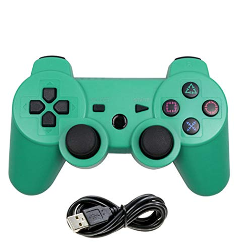 Cotchear Wireless Game Controller for PS3 Game Pad with USB Charging Cable - (Green)