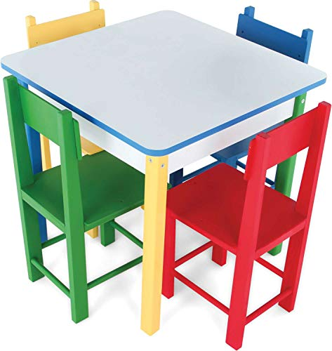 Mesa com 4 Cadeiras Carlu Brinquedos