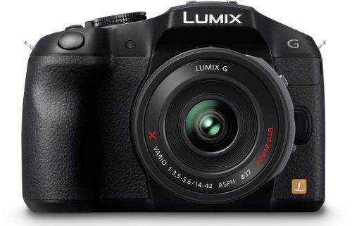 Panasonic Lumix DMC-G6XEG-K Systemkamera (16 Megapixel, 7,6 cm (3 Zoll) Touchscreen, WiFi, NFC) mit Objektiv Lumix G X Vario F3,5-5,6/14-42mm Asph./OIS schwarz