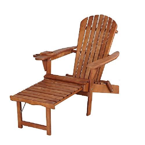 W Home SW2005WN Builtin Ottoman Adirondack Chair Walnut
