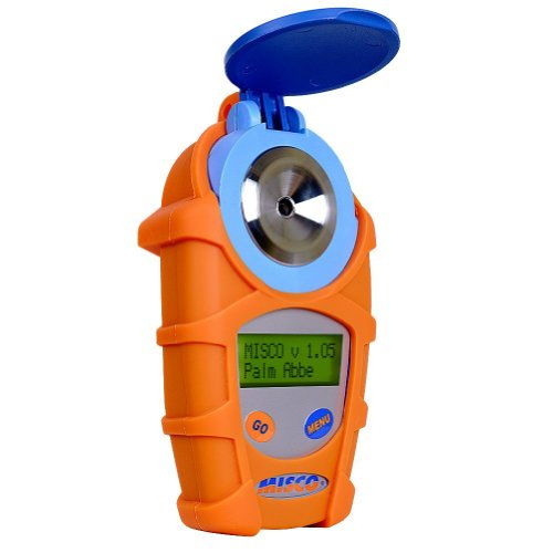 MISCO PA202 Palm Abbe Digital Handheld Refractometer, Brix Scale 0-85.0, Refractive Index, Sugar Content