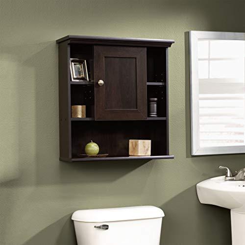 """Sauder Peppercorn Wall Cabinet, L: 23.31"""" x W: 7.56"""" x H: 24.57"""", Cinnamon Cherry Finish"""