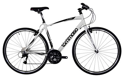 Tommaso La Forma Lightweight Aluminum Hybrid Bike -White/Black - Small