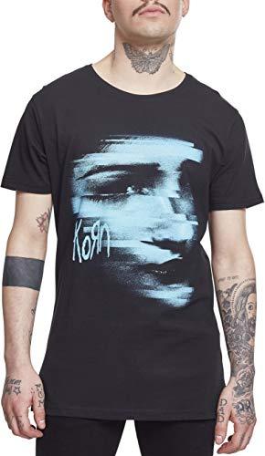 MERCHCODE Herren Korn Face Tee T-Shirt, Black, L