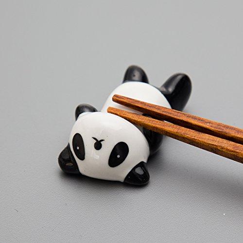 箸置きパンダの箸休め4匹セット陶器製