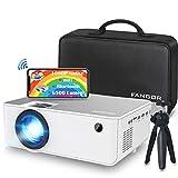 Mini Wifi Projector, FANGOR Native 1080P HD Video Projector, Updated 6500 Lumens Portable