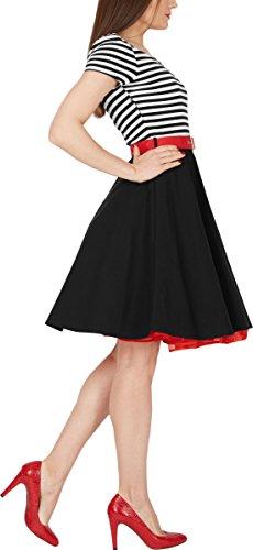 BlackButterfly 'Maria' Vintage Gestreift Pin-up-Kleid - 2