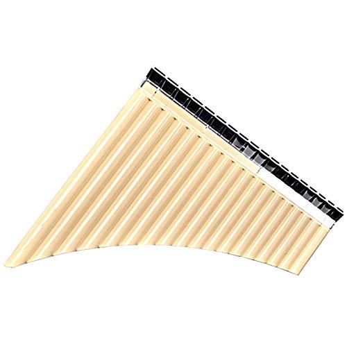 Fanuse Flauta de Pan 18 Tubos Resina de Flauta Multifuncional para Estudiantes Escolares Instrumentos Musicales Suministros de Instrumentos Musicales