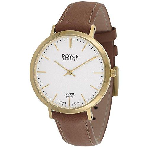 Boccia Herren Digital Quarz Uhr mit Leder Armband 3590-12
