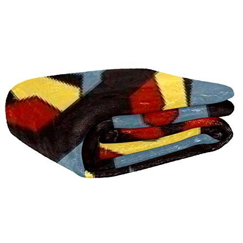 Anmarco Fox Face Weiche warme gemütliche Überwurfdecke für Bett, Couch, Sofa, Picknick, Camping, Strand