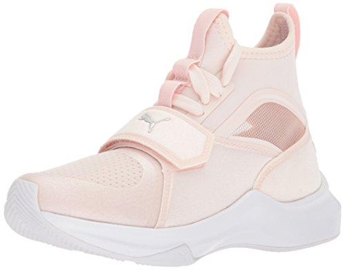 PUMA - Sneaker da bambino Phenom, Bianco (Argento perla-puma), 31 EU