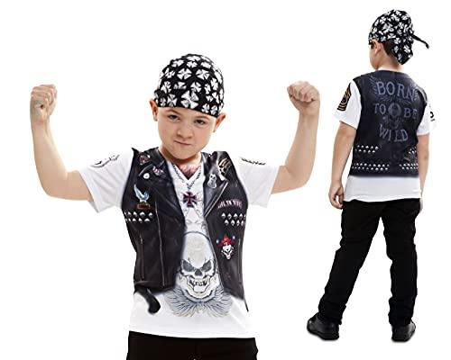 Disfraz Camiseta de Motero Original de Carnaval para niño de 2-4 años de Microfibra - LOLAhome