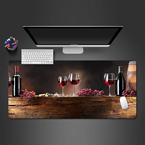 HonGHUAHUI beste verkochte wijn-muisonderlegger kwaliteits-speel-kussen muis-rubbermat voor de gamer-kerstgeschenken, 700 x 300 x 2 mm.