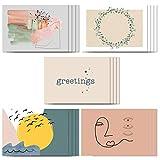 BLATT PAPIER   20x Premium Grußkarte (matt) aus Postkartenkarton mit edler Beschichtung – moderne & schöne Designs – 20er Grußkarten Set – Postkarten DIN A6 – Made in Germany