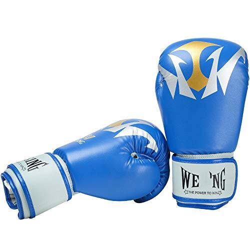 JJEB Guantoni da Boxe Guanti da Boxe per Uomo Donna Guantoni da Boxe da Allenamento Attrezzature per Il Fitness per Kickboxing Fight Gears,Blue