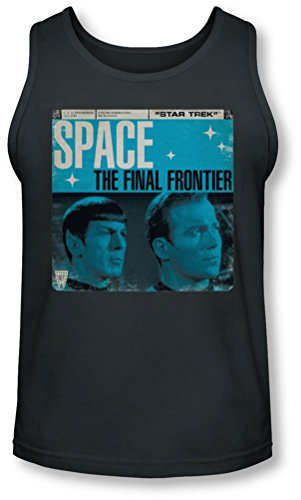 Star Trek - - Final Frontier Couverture Tank-Top pour hommes, Large, Charcoal