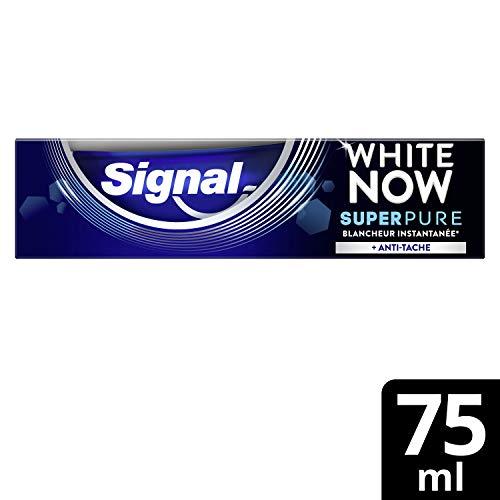 Signal White Now Dentifrice Blancheur Super Pure, Anti-Tâche Formule cliniquement prouvée 75ml